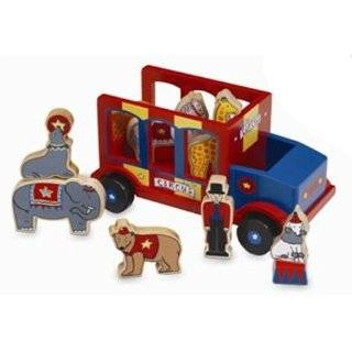 Jack Rabbit Creations Wooden Magnetic Schoolbus Toys