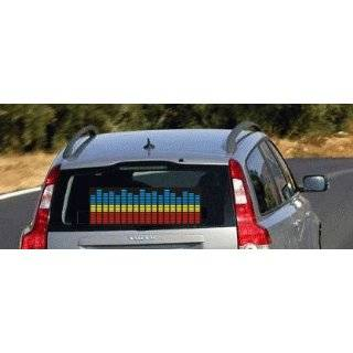 Koolertron Sound music Activated Car Stickers Equalizer Glow Blue