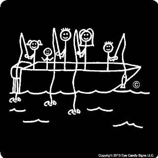 Canoe Stick People Family Car Decals Stickers Graphics