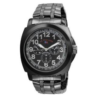Polo Assn. Mens US8439 Black Dial Gun Metal Bracelet Watch Watches