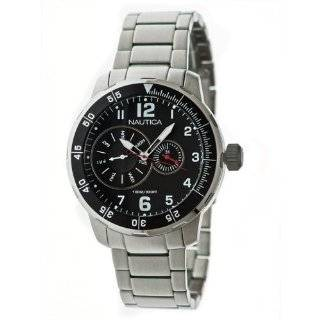 Nautica Steel Bracelet Black Dial Mens watch #N18622G Watches
