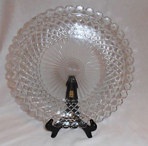 Anchor Hocking Waterford Cake Plate Clear Depression Glass