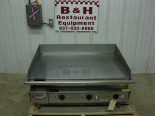 Keating 36LD 36x30 Electric Heavy Duty  Griddle Flat Miraclean Top Grill 3'