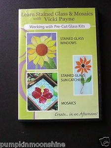 Vicki Payne Stained Glass Supplies Mosaic Art Instructional DVD Great Details