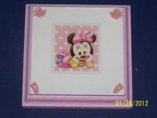 Disney Baby Minnie Mouse Wall Plaque Decor Bedding Girls Signs Kids Nursery Room