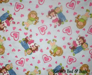 Cabbage Patch Kids Baby Boy Girl Doll Blue Pink Heart Curtain Valance New