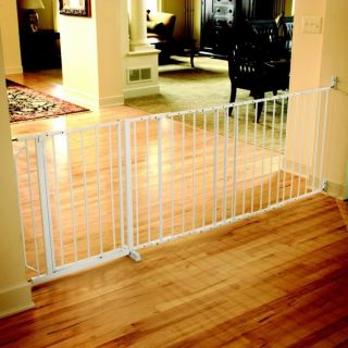 New Regalo Maxi Extra Super Wide Walk thru Baby Pet Child Safety Gate White