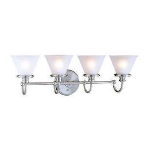 Hampton Bay 512790 Brushed Nickel 4 Light Wall Mount Bathroom Vanity Fixture