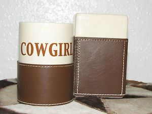Western Rustic Cowgirl Bath Accessories Bathroom Decor