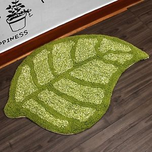 67x43 Cotton Leaf Pattern Floor Bath Mat Foot Carpet Rug Bathroom Freeship★★
