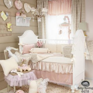 Baby Girl Pink Boutique Designer Quilt Crib Nursery Infant Newborn Bedding Set