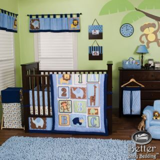 Trend Lab Baby Boy Animal Jungle Safari Theme Crib Nursery Bed Quilt Bedding Set