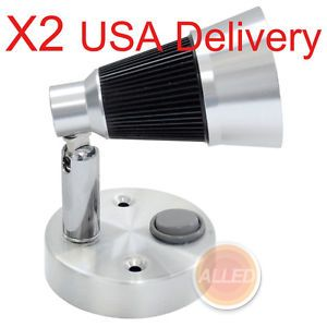 2X 12V LED Swivel Chart Reading Light USA Delivery Bedside Table Lamp Cool White