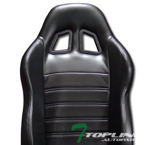 1P Universal JDM SP Black PVC Leather Car Racing Bucket Seat Slider for Ford