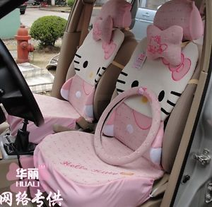 Hello Kitty Auto Car Seat Cover Accessories Set 13pcs 6 Colors