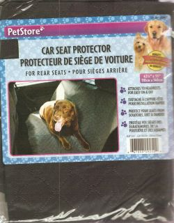 Petstore Family Pet Dog Car Seat Protector for Rear Seats Brand New