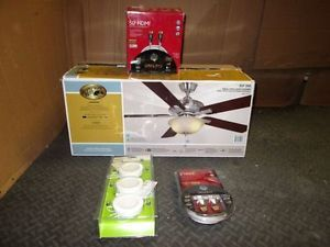 Hampton Bay Ceiling Fan 2 GE HDMI Cables Puck Light Kit