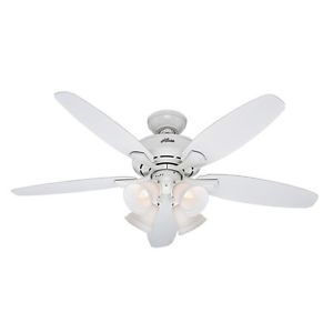 Hunter Landry 52 in White Ceiling Fan with Light Kit