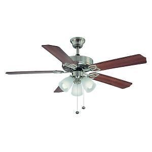 New Hampton Bay Brookhurst 52 in Brushed Nickel Ceiling Fan