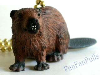 Beaver Forest Animal Dog Ceiling Decor Fan Light Pull