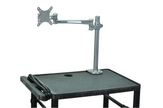 Luxor LCD Monitor Desk Mount Silver