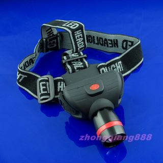 CREE LED 180LM Zoom Zoomable Flashlight Headlamp Focus LED Head Light