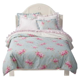 Rachel Ashwell Simply Shabby Chic Belle Collection Pink Hydrangea Duvet Set