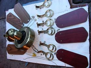 Vintage Hampton Bay Reversible 6 Blade Ceiling Fan with Double Sided Blades
