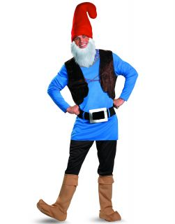 Papa Gnome Smurf Adult Garden Gnome Halloween Party Costume Mens Plus 50 52