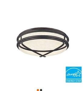 Hampton Bay Fairchild Collection 2 Light Flush Mount Sienna Fluorescent Fixture