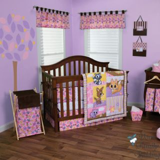 Baby Girl Pink Animal Print Theme Crib Nursery Best Bedding Quilt Collection Set