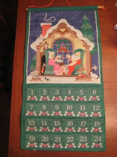 Vintage 1987 Avon Countdown to Christmas Advent Calendar Original Cord No Mouse