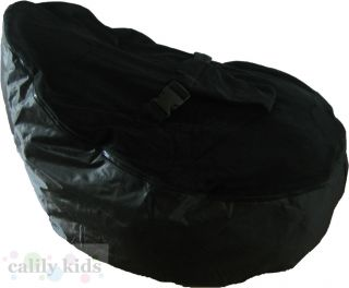 Baby Toddler Kids Portable Bean Bag Seat Snuggle Bed Black Black