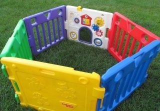 Today's Kids 6 Colorful Panel Baby Gate Play Yard