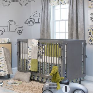 Glenna Jean Baby Boy Grey Vintage Car Truck Crib Nursery Bedding Quilt Bed Set