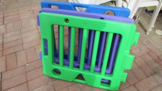 Todays Kids Play Yard 4 Colorful Panels Playzone Baby Gate Safety Fence