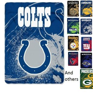 NFL Sketch Fleece Throw Stadium Blanket Teams