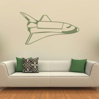 Space Shuttle Rocket Vinyl Wall Art Decal Sticker Boys Bedroom Decor VE017