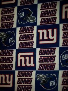 New York Giants Baby Blanket NFL Toddler Fleece Throw Blue NY Gift Shower Lap