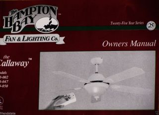 "Hampton Bay The Callaway 54"" Ceiling Fan with Light Kit White New"
