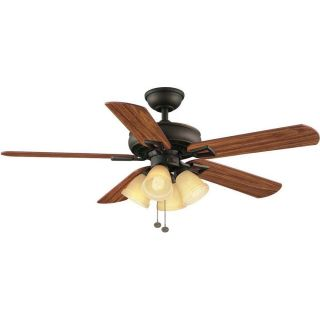 Hampton Bay Lyndhurst 52 inch Ceiling Fan w Light Kit Oil Rubbed Bronze Finish