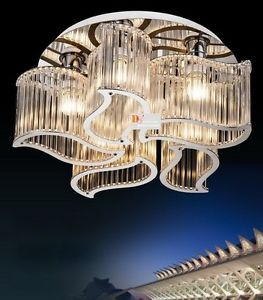 Gorgeous Modern Crystal Ceiling Lights Fixture Chandeliers Lighting 110 240V New