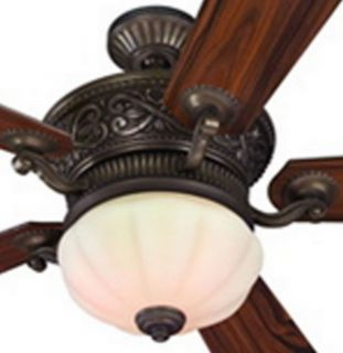 "Specialty Bronze 52"" Harbor Breeze Ceiling Fan w Frosted Light Kit Remote"