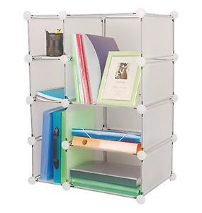 Interlocking Room Closet Book Clothes Toys Storage Organizer Cube Shelf Unit