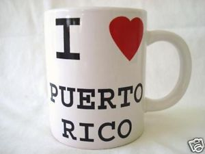 I Love Puerto Rico Rican Coffee Mugs Cups Souvenirs