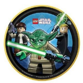 Lego Star Wars 8 Small Dessert Cake Plates Birthday Party Supplies Tableware