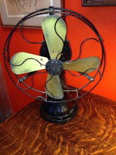 Antique GE Coin Operated Fan General Electric Brass Blade Fan Works Great