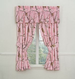 Realtree AP Pink Camouflage Window Curtains Drapes