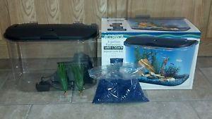 Aquarius 5 Gallon Panaview Aquarium Kit Gravel 2 Decorations
