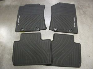 2012 Toyota Tacoma All Weather Floor Mat Set Black PT908 35121 20 Access Cab